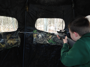 Two Man Gun & Crossbow Blind (Slide Rope Windows)